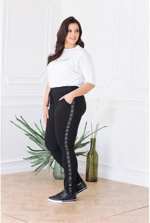 wygodne kobiece spodnie dresowe xlka z misiem