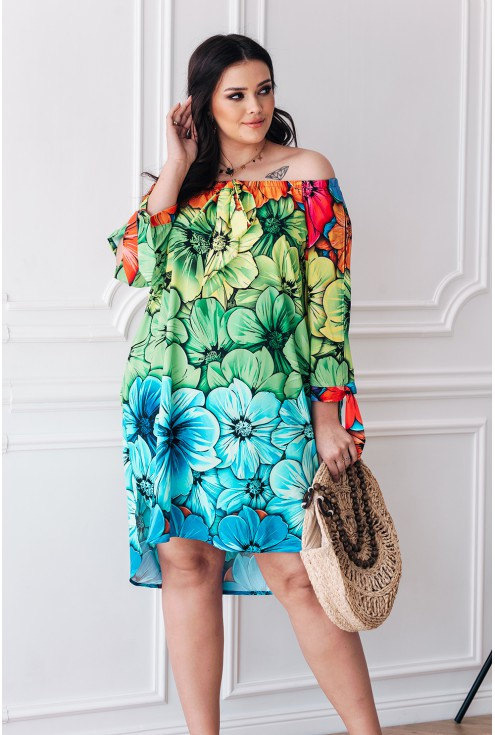 sukienka kolorowa xxxl