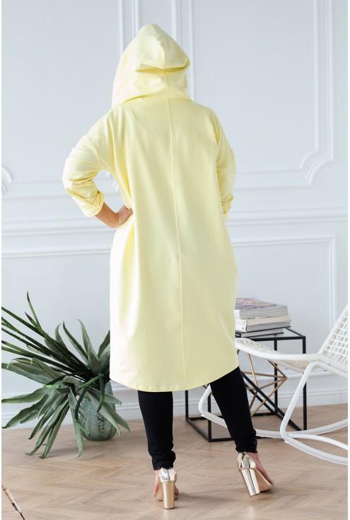 Cytrynowa długa bluza LARA