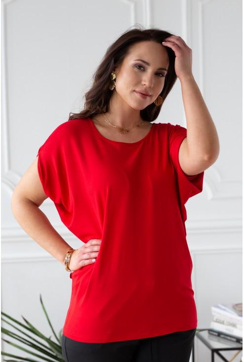 czerwona bluzka DORA xxl