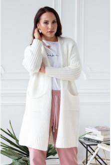 śmietankowy miły sweterek xlka