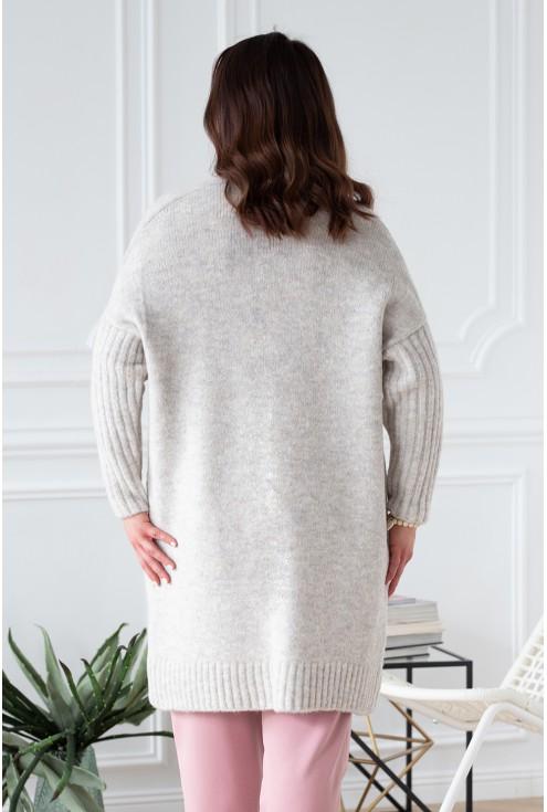 tył gruby sweterek narzutka xxl