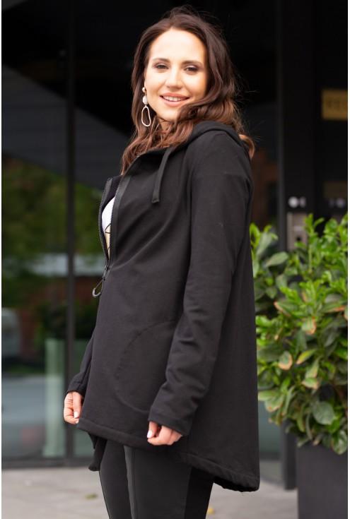 bok czarnej dresowej bluzy alizee