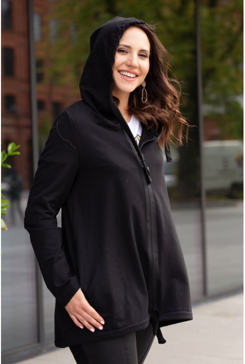 bluza z kapturem w kolorze czarnym alizee