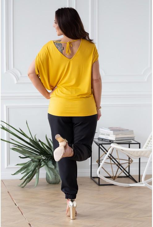 miodowa bluzka dora oversize wiązanie na plecach xlka