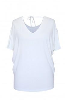biała dzianinowa bluzka xlka