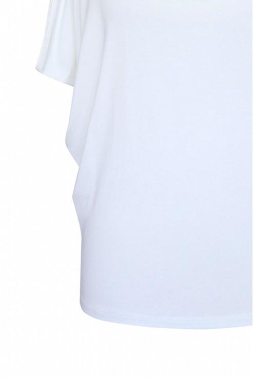 nietoperz biała bluzka oversize