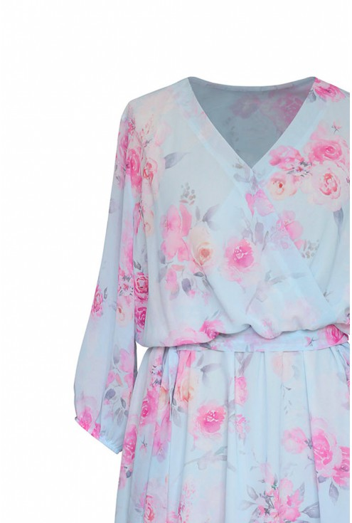 kopertowy dekolt sukienka xxl adelita