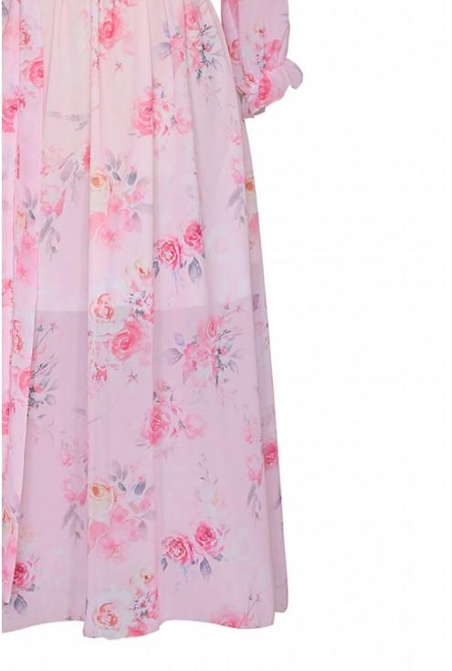lekka sukienka w kwiaty xlka