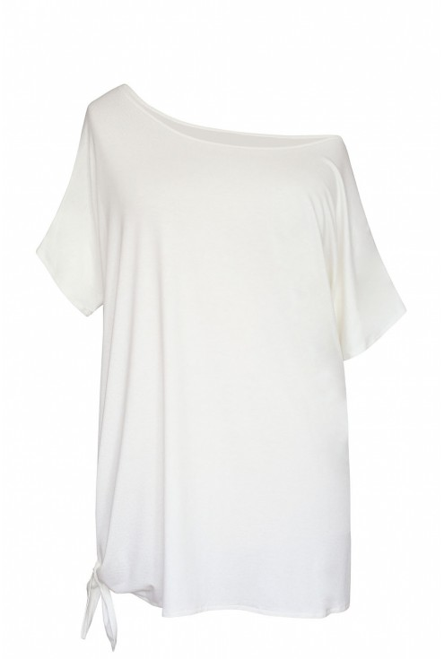 biała deana wiązana na boku