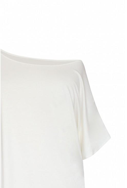 deana biała bluzka z dzianiny duże rozmiary