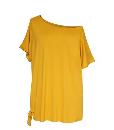 Bluzka z wiązaniem na boku DEANA - kolor miodowy