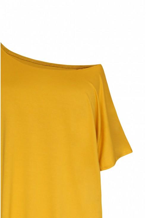 bluzka odsłonięte ramię kolor miodowy xlka
