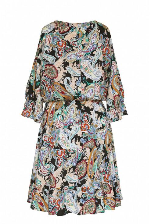 tył sukienki w orientalny wzór matilde