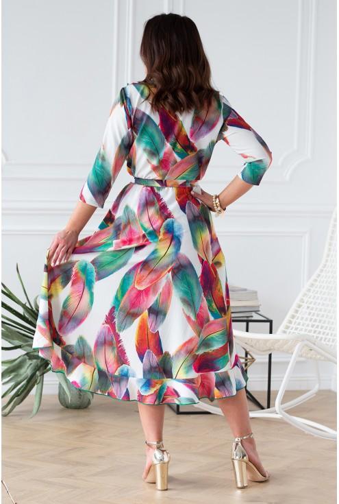 xlka kolorowa sukienka