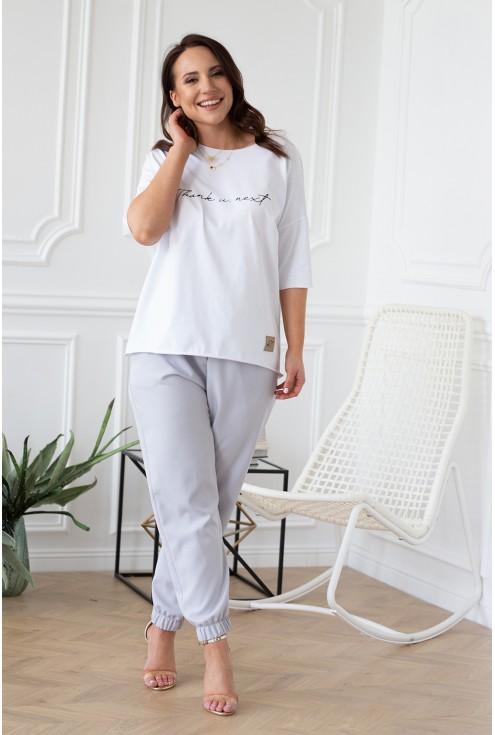 eleganckie spodnie w kolorze szarym xl