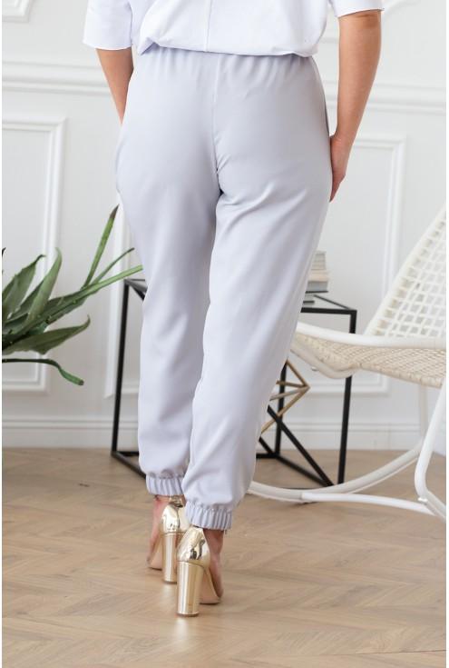 tył spodni w kolorze popielatym xxl