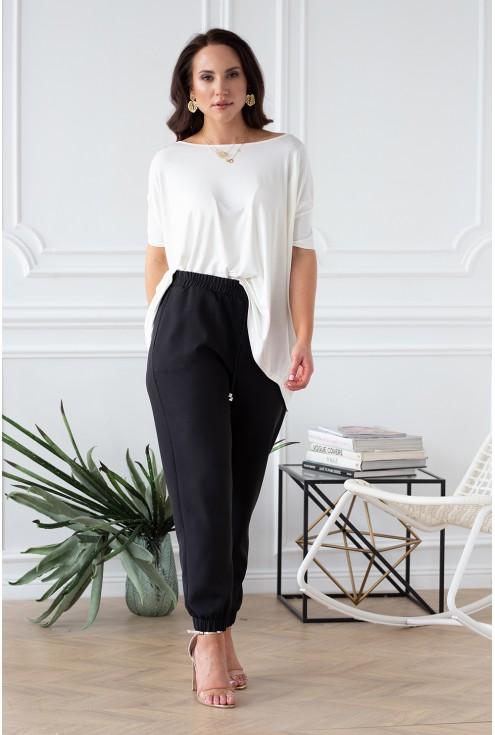 eleganckie spodnie ze ściągaczami duże rozmiary