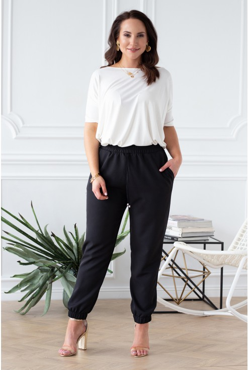 kobiece spodnie ze ściągaczami viviane