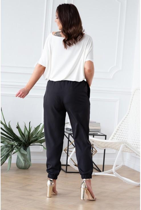 xlka czarne spodnie ze ściągaczami tył