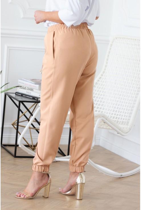 piaskowe spodnie eleganckie