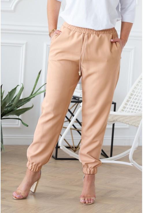 piaskowe spodnie viviane