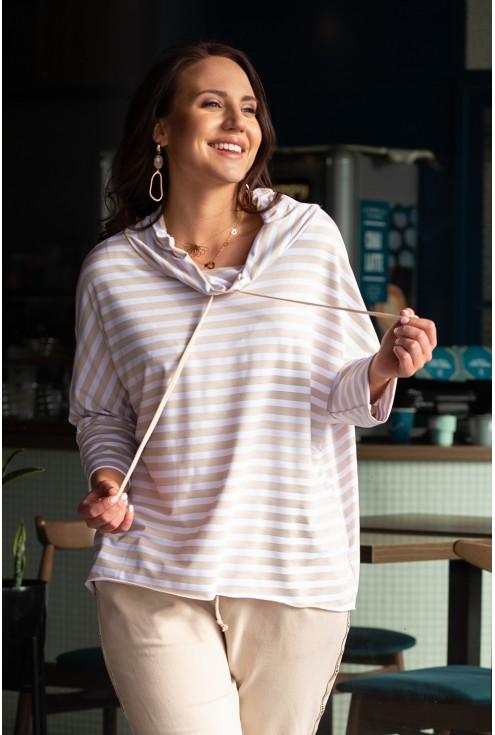 bluza i spodnie kolor beżowy duże rozmiary xxl
