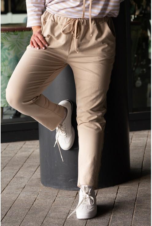 dresowe spodnie z kieszeniami xxl