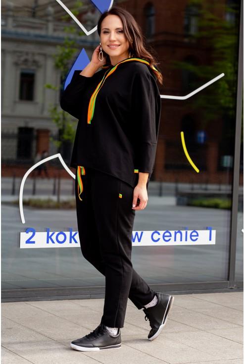 duże rozmiary dres czarny oversize
