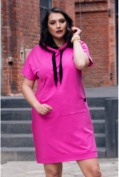 Sukienka dresowa w kolorze fuksji