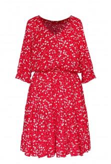czerwona sukienka w dmuchawce xl