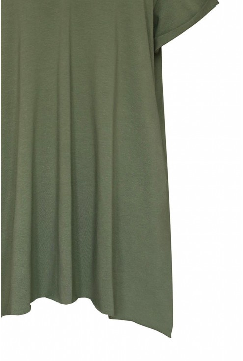 dzianinowa bluzka zielona