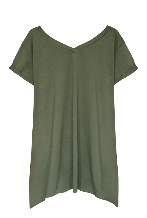 oliwkowa bluzka xxl
