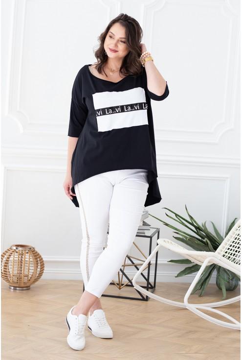 biało czarna tunika wendy xxl