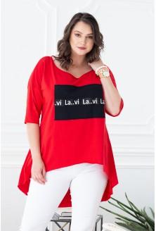 czerwona tunika czarna aplikacja xlka
