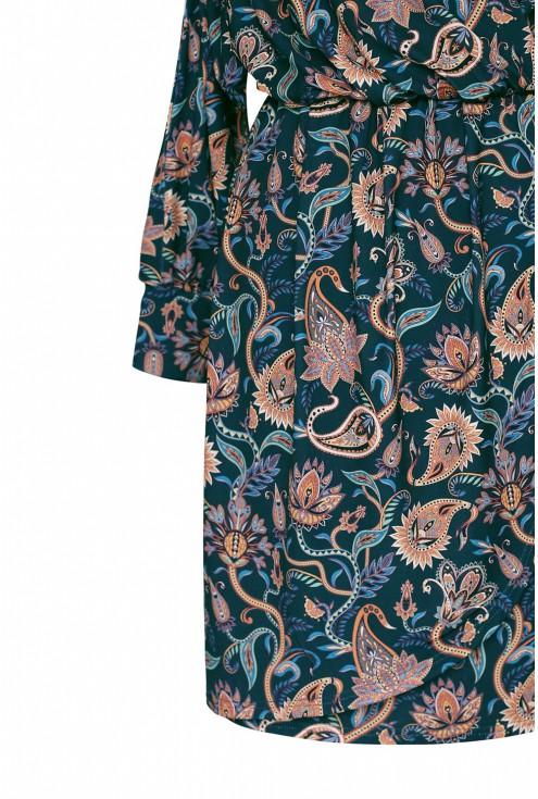 bok sukienki w orientalne wzory xxl