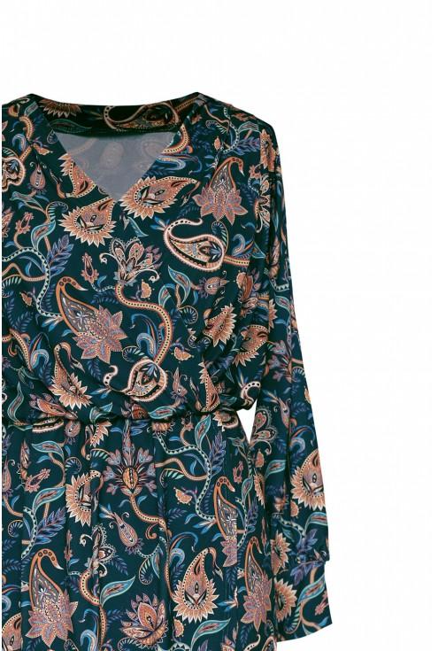 góra sukienki w orientalne wzory plus size