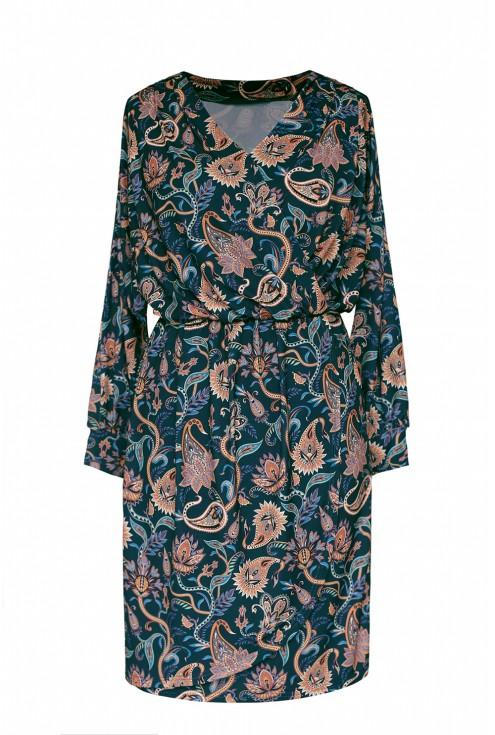sukienka orientalne wzorki xxl