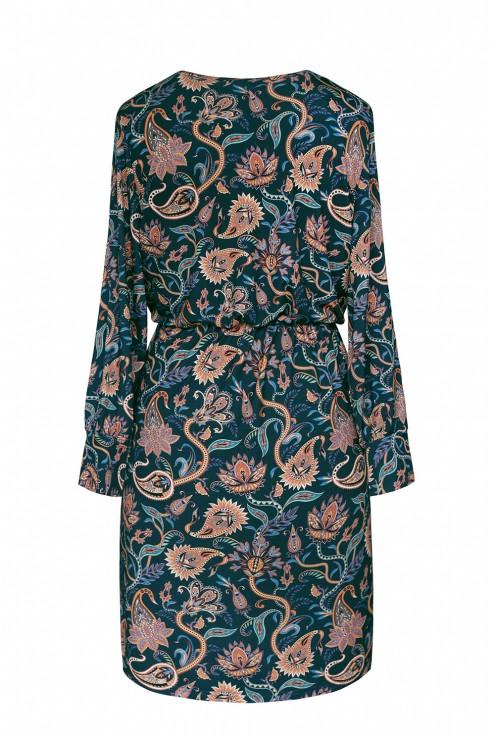 tył sukienki w orientalne wzory plus size