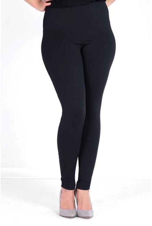 Długie czarne letnie legginsy damskie
