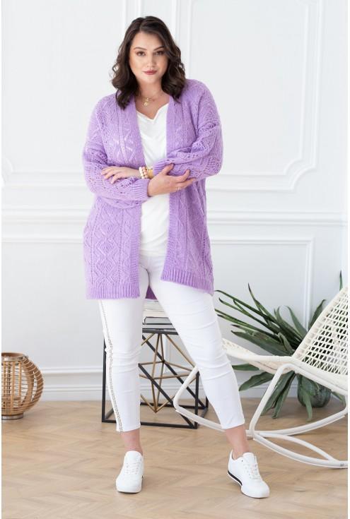 liliowy sweterek Olive