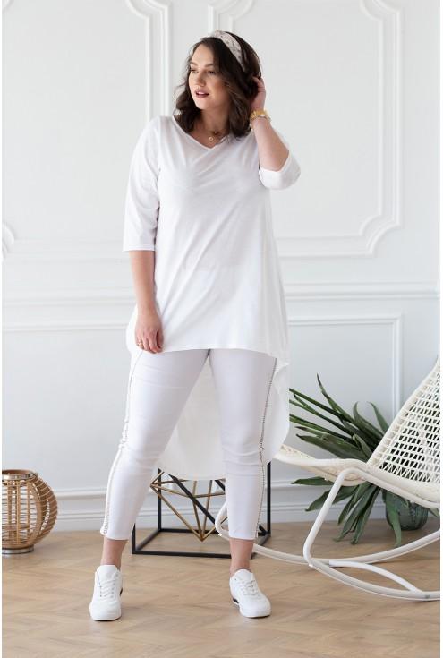 biała długa tunika ginette