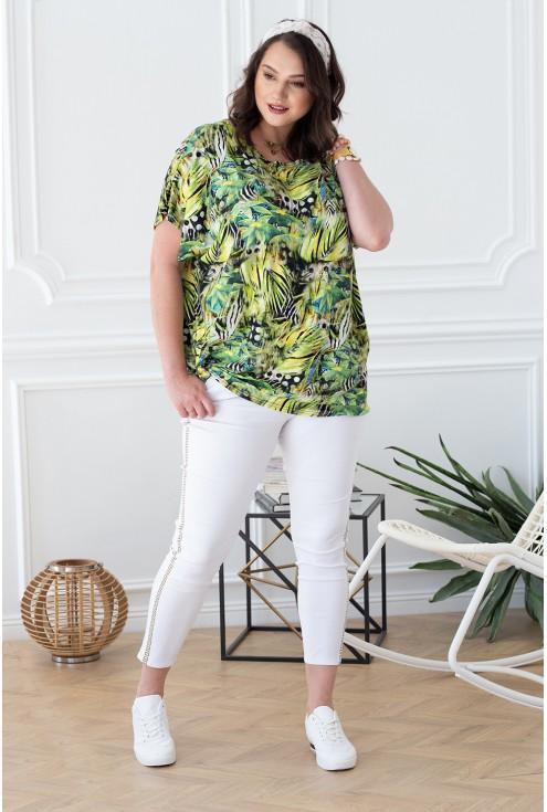 bluzka wzór dżungla