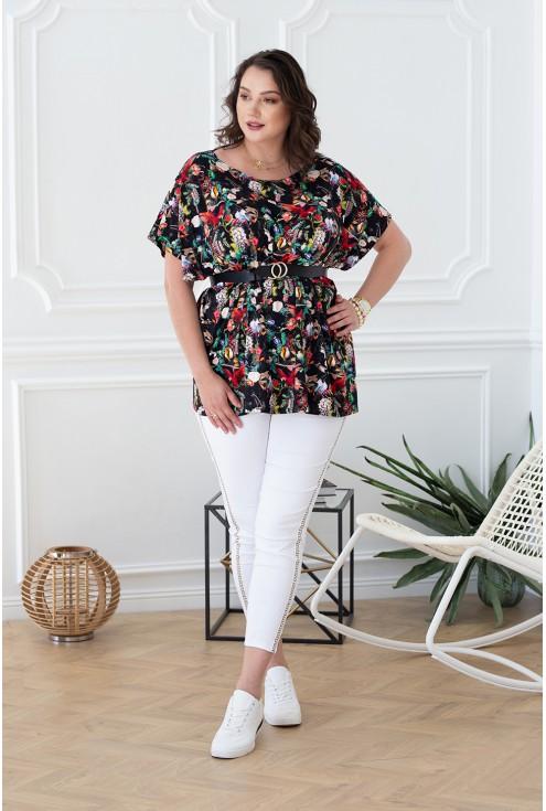 oversizowa bluzka z motywem safari xlka