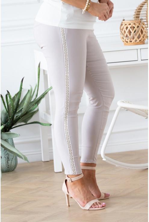 beżowe spodnie Catherine duże rozmiary xxl