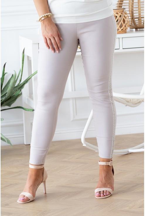beżowe spodnie Catherine xxl