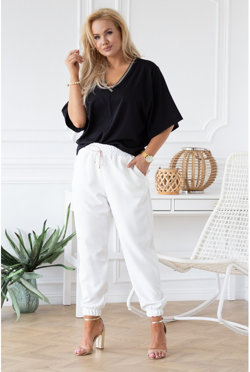 czarna bluzka Brigitte xxl