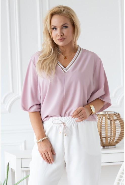 pudrowa bluzka brigitte xxl