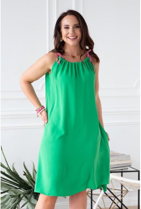 soczysta zieleń sukienka xxl