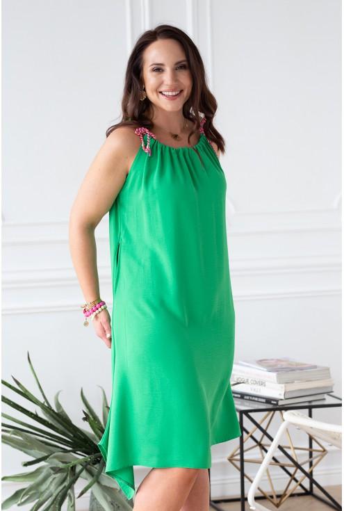 zielona sukienka na wakacje